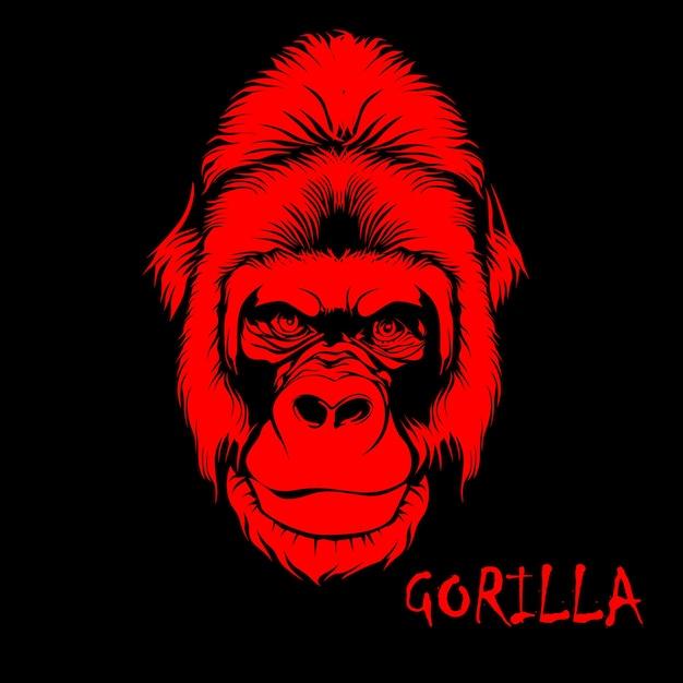 Ilustração de cara de gorila Vetor Premium