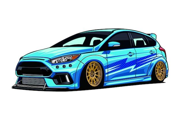 Ilustração de carro à deriva Vetor Premium