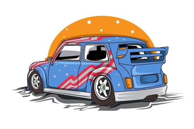 Ilustração de carro clássico americano Vetor Premium