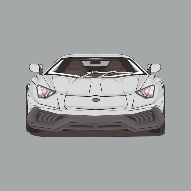 Ilustração de carro esporte Vetor Premium
