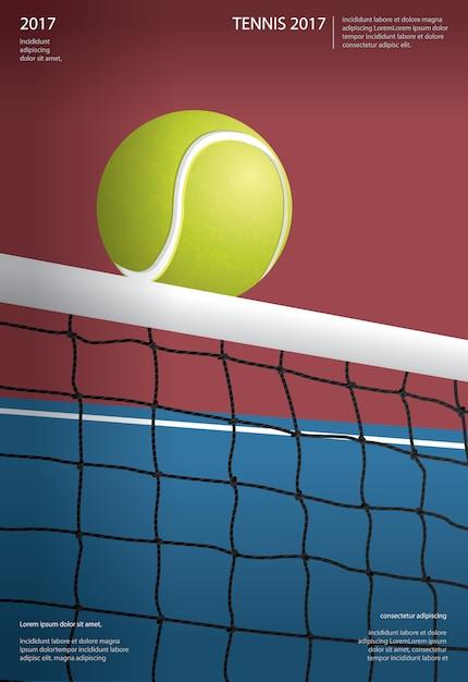 Ilustração de cartaz de campeonato de tênis Vetor Premium