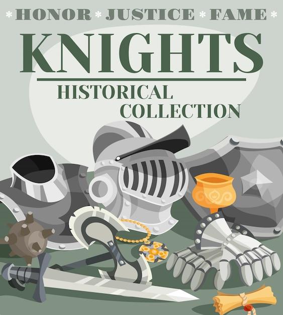 Ilustração de cartaz de cavaleiro Vetor grátis