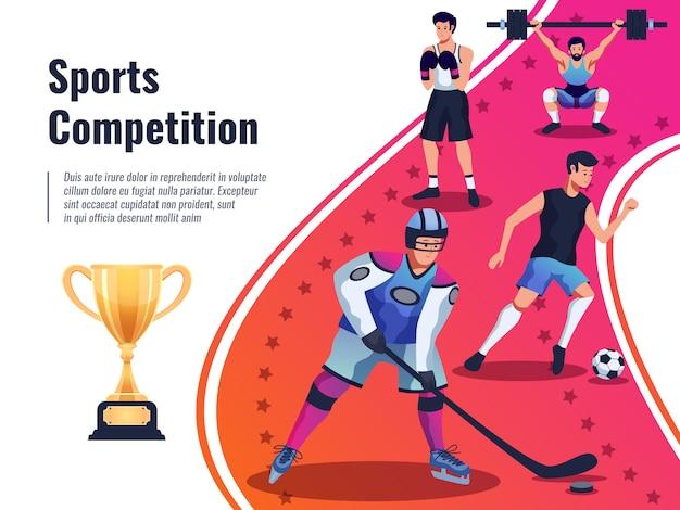 Ilustração de cartaz de competição esportiva Vetor grátis