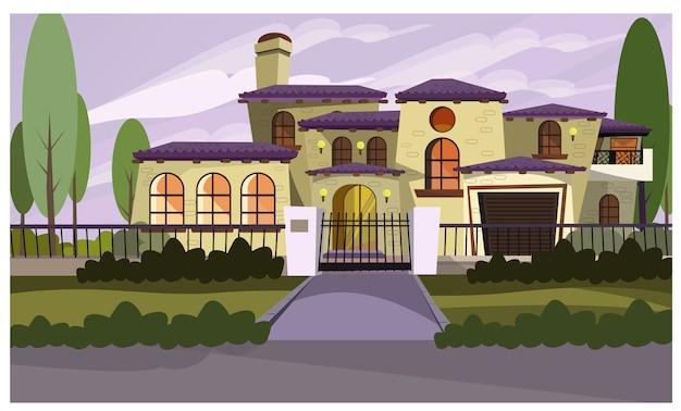 Ilustração de casa residente Vetor grátis