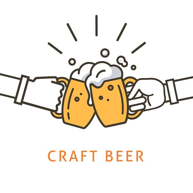 Ilustração de cerveja artesanal Vetor Premium