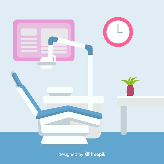 Ilustração de clínica dentária Vetor grátis