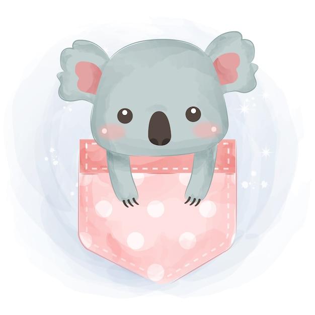 Ilustração de coala fofa Vetor Premium