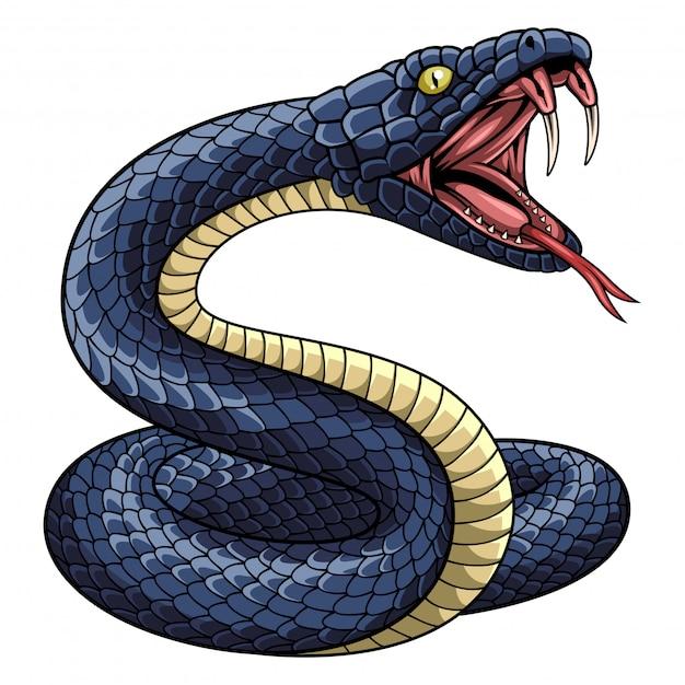 Ilustração, de, cobra, mascote Vetor Premium