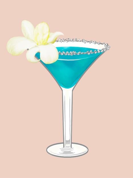 Ilustração de cocktail de festa de praia tropical Vetor grátis