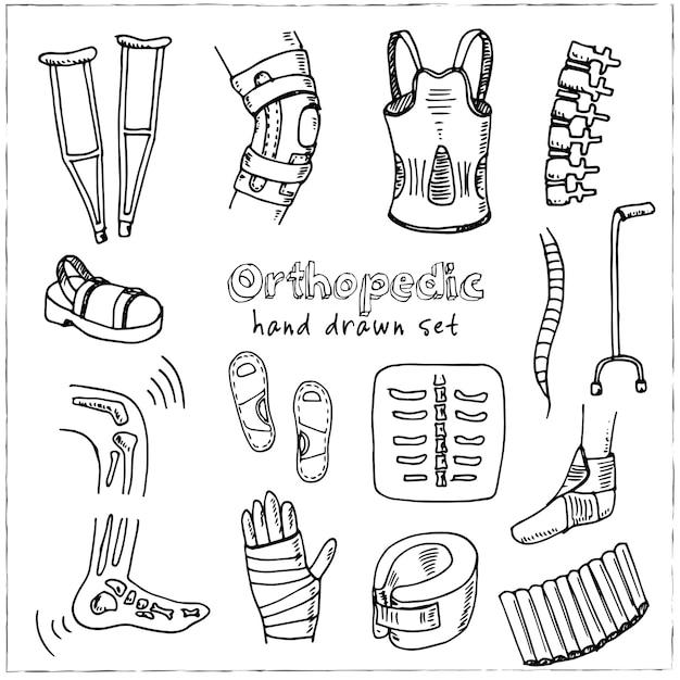 Ilustração de coleção ortopédica isolada Vetor Premium