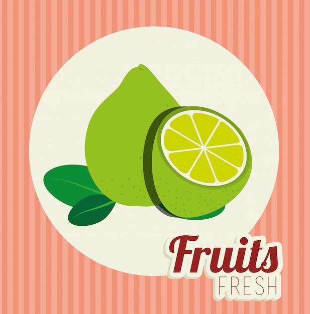 Ilustração de comida saudável de frutas Vetor grátis