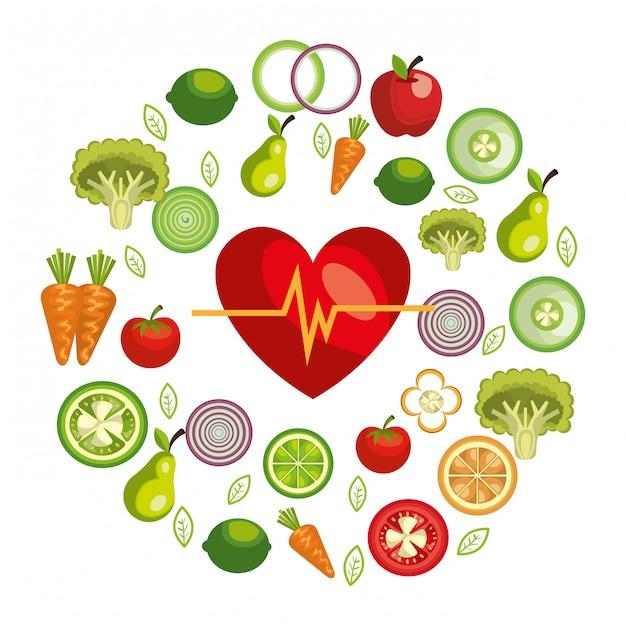 Ilustração de comida saudável Vetor grátis