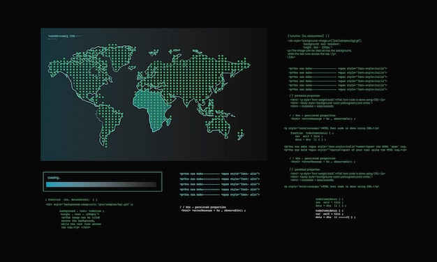 Ilustração, de, computador, hacking, código Vetor grátis