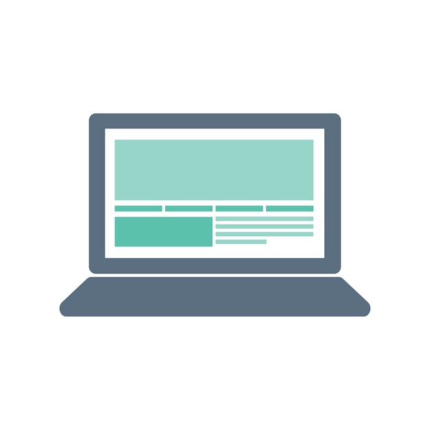 Ilustração, de, computador, ícone Vetor grátis
