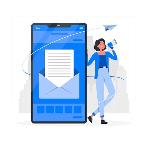 Ilustração de conceito de campanha de e-mail Vetor grátis