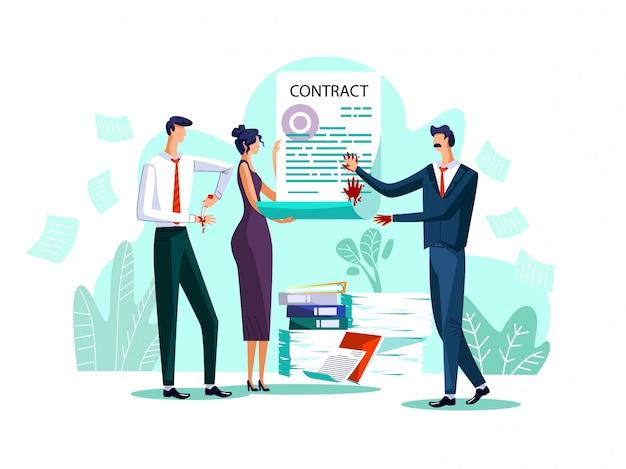 Ilustração de conceito de conclusão de contrato Vetor grátis