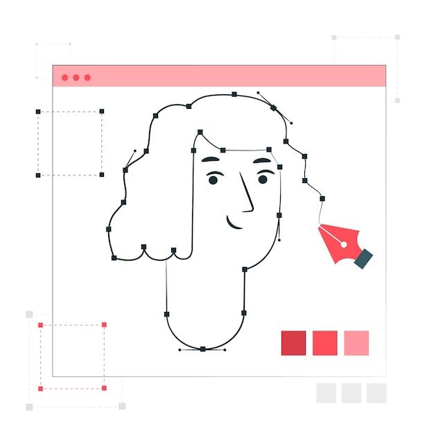 Ilustração de conceito de ferramenta de caneta Vetor grátis