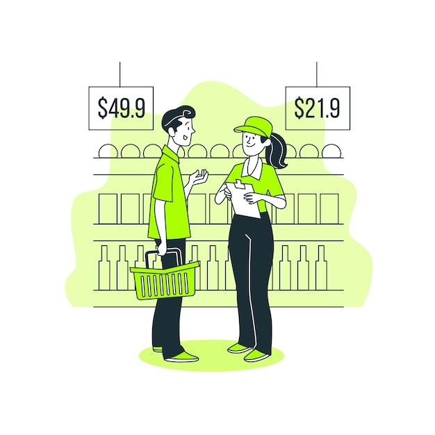 Ilustração de conceito de pesquisa de cliente Vetor grátis