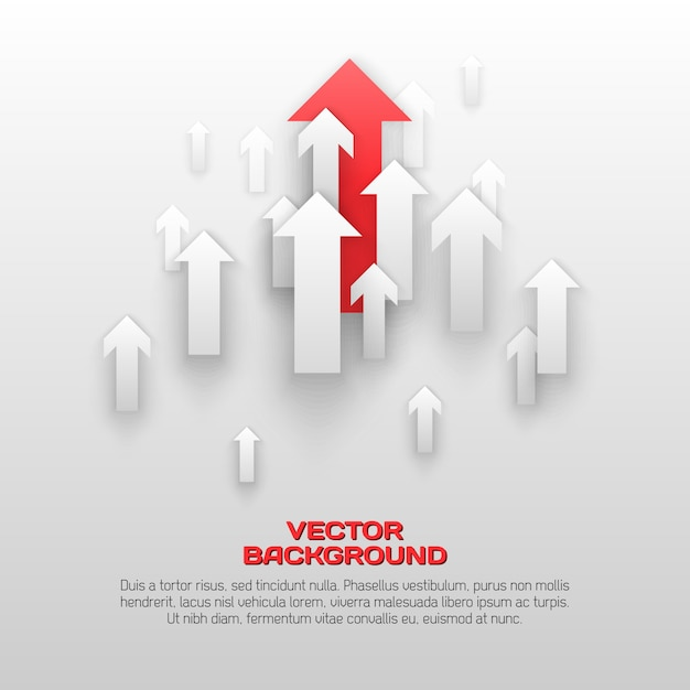 Ilustração de conceito de setas sobrepostas Vetor Premium