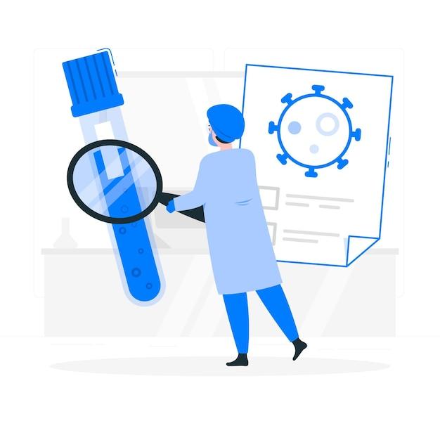 Ilustração de conceito de teste de sangue (covid-19) Vetor grátis