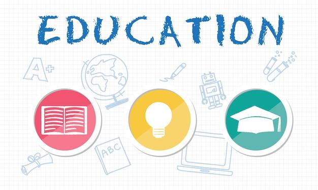 Ilustração, de, conceito educação Vetor grátis