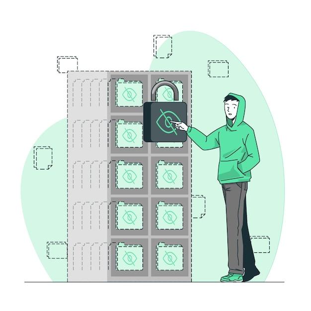 Ilustração de conceito oculto Vetor grátis