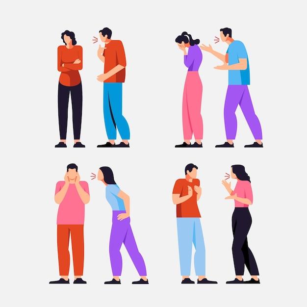 Ilustração de conflitos de casal Vetor grátis