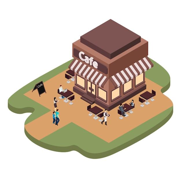 Ilustração de construção de café Vetor grátis