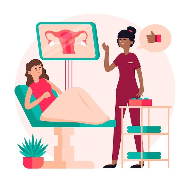 Ilustração de consulta de ginecologia Vetor grátis