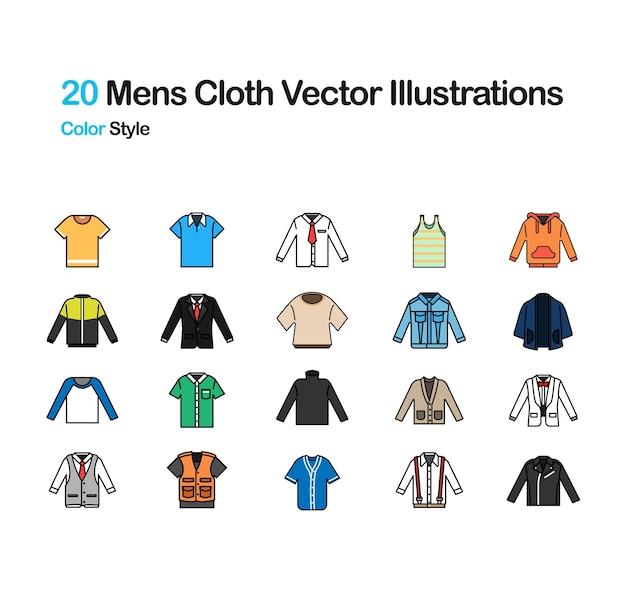 Ilustração de cor do pano dos homens Vetor Premium