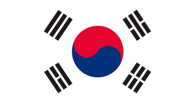 Ilustração, de, coréia sul, bandeira Vetor grátis