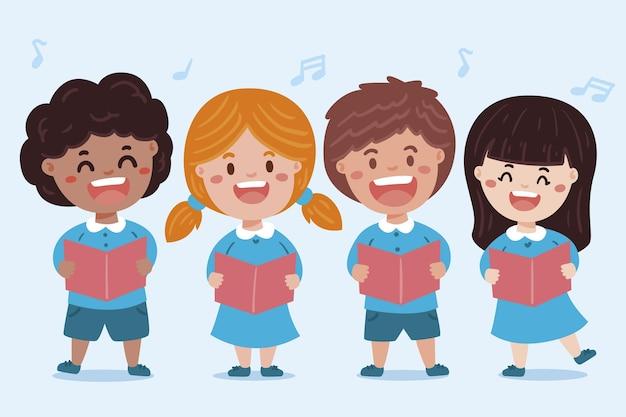 Ilustração de coro infantil Vetor grátis