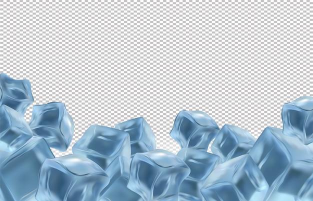Ilustração de cubos de gelo congelados Vetor Premium