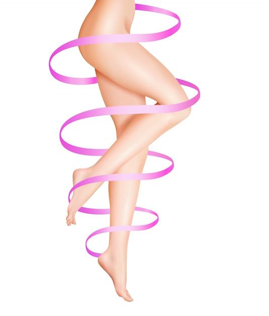 Ilustração de cuidados de pernas femininas Vetor grátis