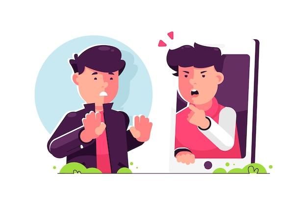 Ilustração de cyber bullying Vetor grátis