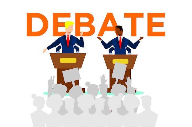 Ilustração de debates políticos Vetor Premium