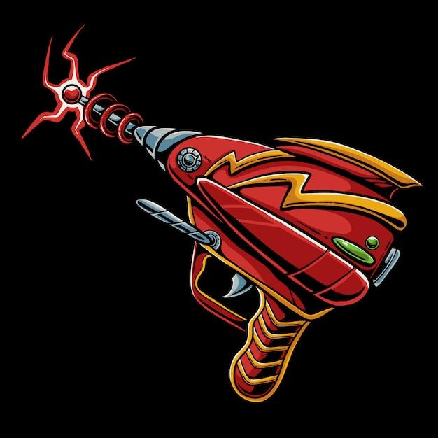 Ilustração de desenhos animados de arma laser Vetor Premium