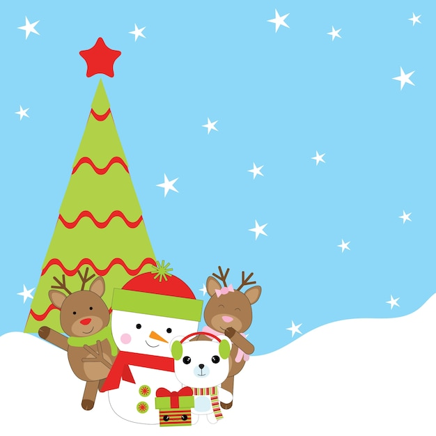 Ilustração De Desenhos Animados De Natal Com Boneco De
