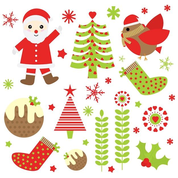 Ilustração De Desenhos Animados De Natal Com Papai Noel