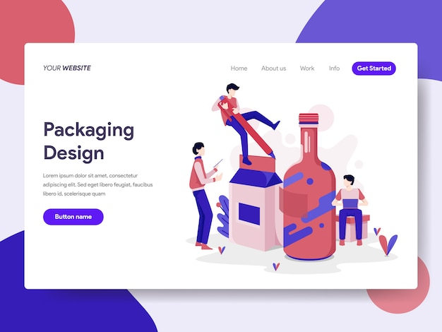 Ilustração de design de embalagem Vetor Premium