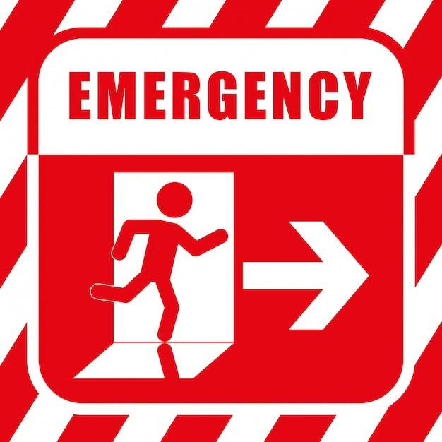 Ilustração de design de emergência Vetor Premium