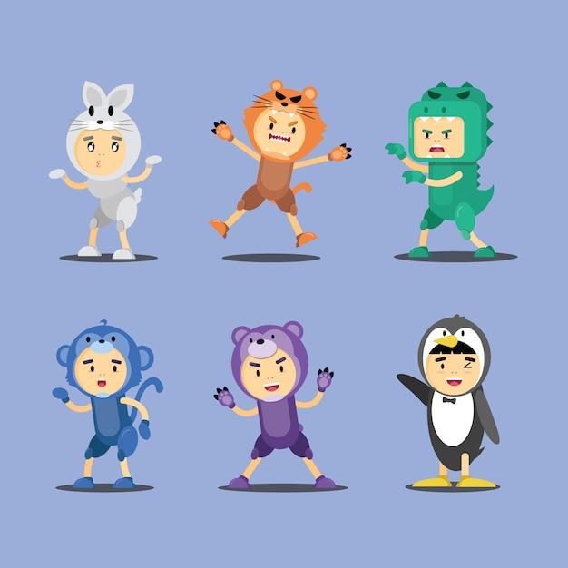 Ilustração de design de personagens de fantasia de animais Vetor Premium