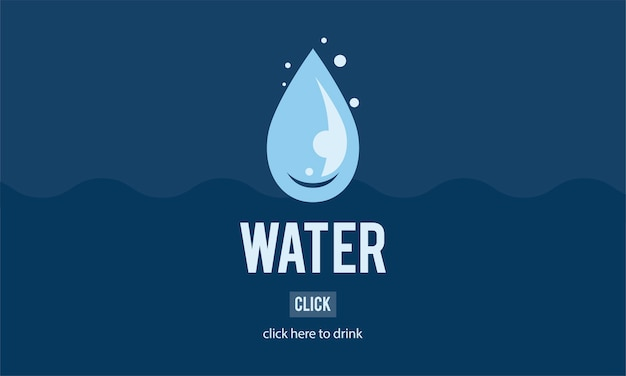 Ilustração, de, dia água Vetor grátis