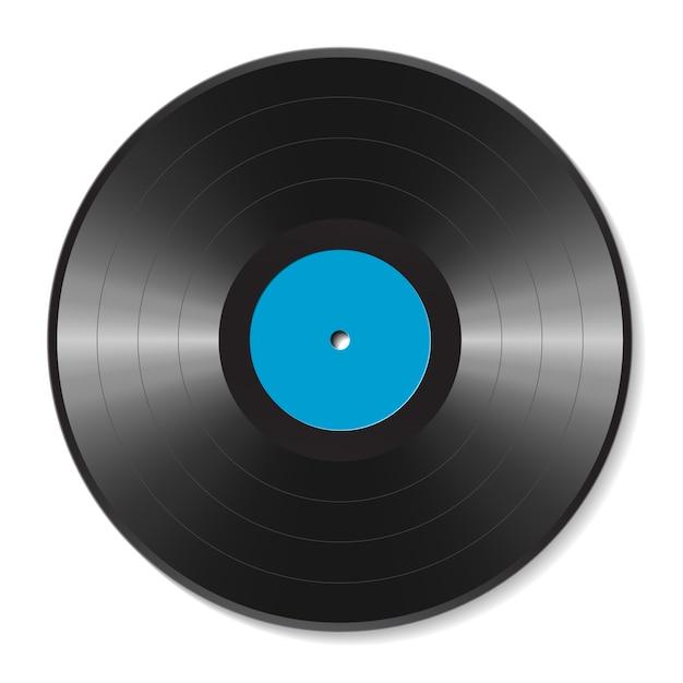 Ilustração de disco de vinil em branco Vetor Premium