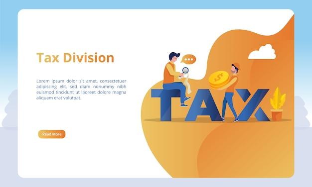 Ilustração de divisão fiscal para modelos de página de destino Vetor Premium
