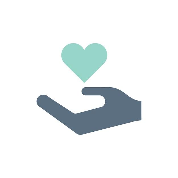 Ilustração, de, doação, apoio, ícones Vetor grátis