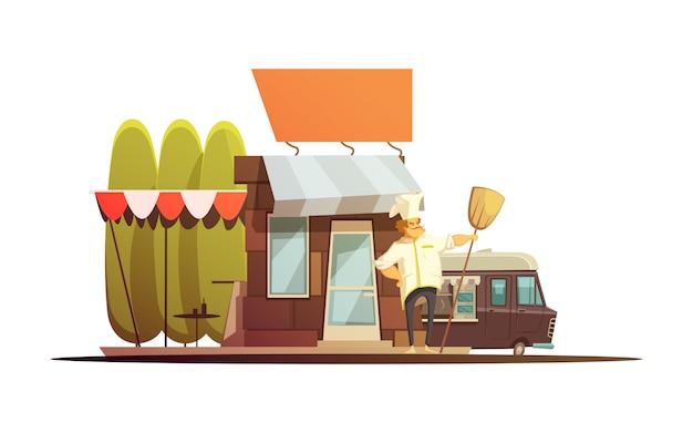 Ilustração de edifício de loja local Vetor grátis