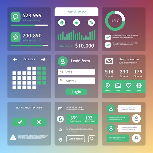 Ilustração de elementos de web design Vetor Premium