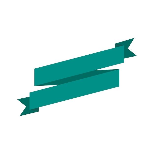 Ilustração, de, em branco, fita, bandeira Vetor grátis