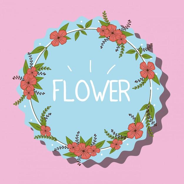 Ilustração de emblema de flores Vetor grátis